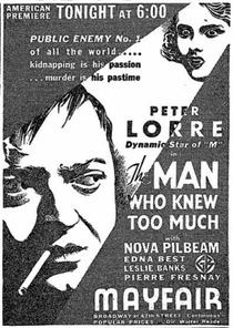 O Homem Que Sabia Demais - Poster / Capa / Cartaz - Oficial 7