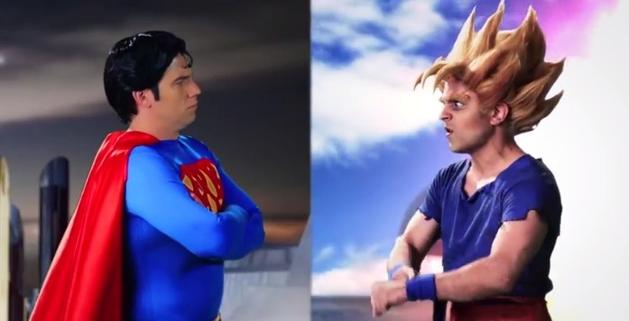 Superman vs. Goku…! (numa batalha de rap?! O.o)