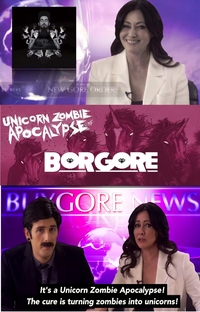 Unicorn Zombie Apocalypse - Poster / Capa / Cartaz - Oficial 1