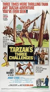 Os Três Desafios De Tarzan - Poster / Capa / Cartaz - Oficial 1