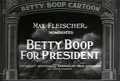 Betty Boop for President - Poster / Capa / Cartaz - Oficial 1