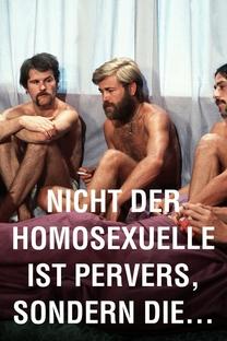 Não É o Homossexual Que É Perverso, mas a Situação em Que Ele Vive - Poster / Capa / Cartaz - Oficial 3