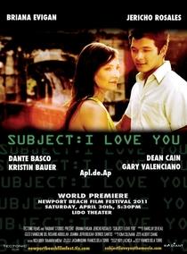 Subject: I Love You - Poster / Capa / Cartaz - Oficial 1