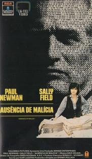 Ausência de Malícia - Poster / Capa / Cartaz - Oficial 4