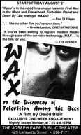 Wax, or the Discovery of Television Among the Bees (Wax, or the Discovery of Television Among the Bees)