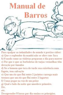Manual de Barros - Poster / Capa / Cartaz - Oficial 1