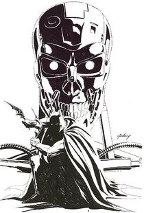 Batman vs O Exterminador do Futuro - Poster / Capa / Cartaz - Oficial 2