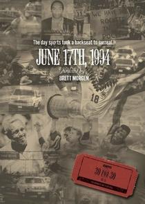 June 17, 1994 - Poster / Capa / Cartaz - Oficial 1