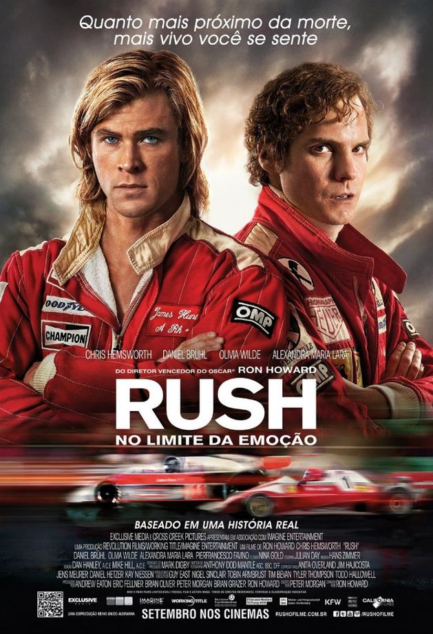 """Pôster nacional de """"Rush – No Limite da Emoção"""""""