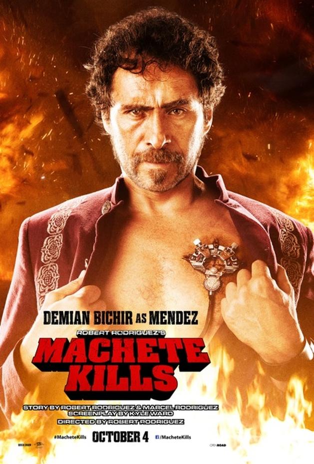 """Demian Bichir como Mendez em novo pôster de """"Machete Kills"""""""