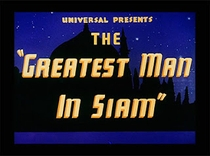 The Greatest Man in Siam - Poster / Capa / Cartaz - Oficial 1