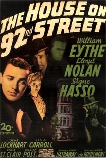 A Casa da Rua 92 - Poster / Capa / Cartaz - Oficial 1