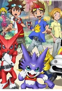 Digimon Xros Wars: Os jovens caçadores que correm através do tempo - Poster / Capa / Cartaz - Oficial 1