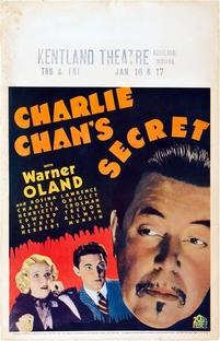 O Segredo de Charlie Chan - Poster / Capa / Cartaz - Oficial 1