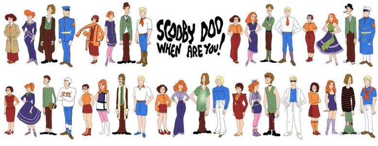 A turma do Scooby-Doo ao longo das décadas