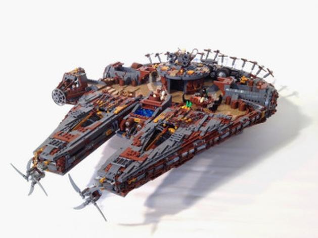 Versão steampunk da Millenium Falcon é criada com LEGO