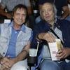 Roberto Carlos e Erasmo Carlos na pré-estreia de Minha Fama de Mau
