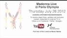 Madonna Live at Paris Olympia 2012 Announcement Trailer