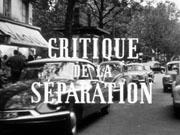 Crítica da Separação  - Poster / Capa / Cartaz - Oficial 1