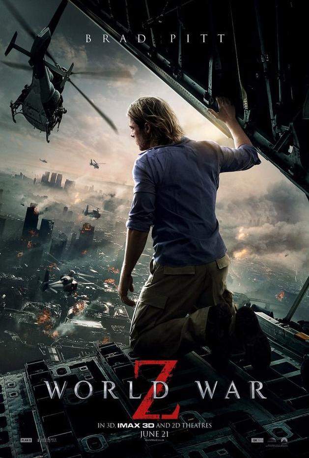 """Destruição em novos posters de """"Guerra Mundial Z"""", com Brad Pitt"""