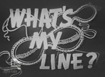 What's My Line? - Poster / Capa / Cartaz - Oficial 1