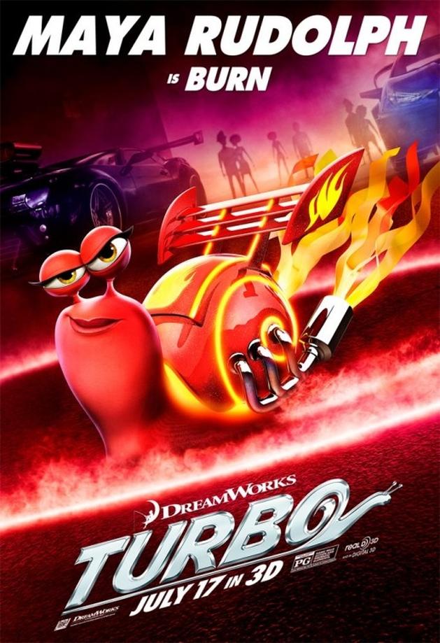 Novo trailer dublado e pôsteres da animação TURBO, da DreamWorks  