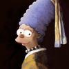 Os Simpsons como pinturas clássicas e ícones pop em quadros a óleo