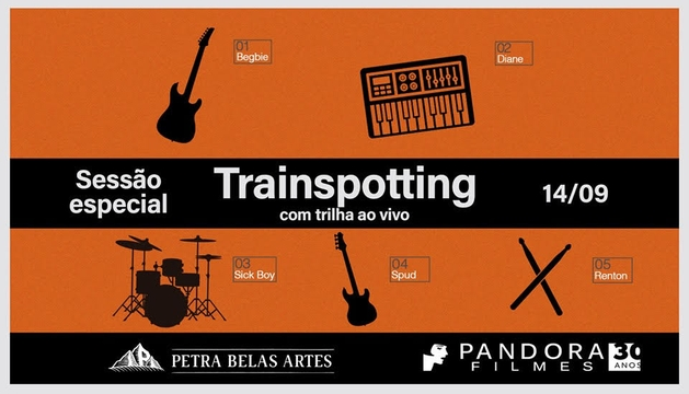 Sessão de Trainspotting com trilha sonora ao vivo no cinema!
