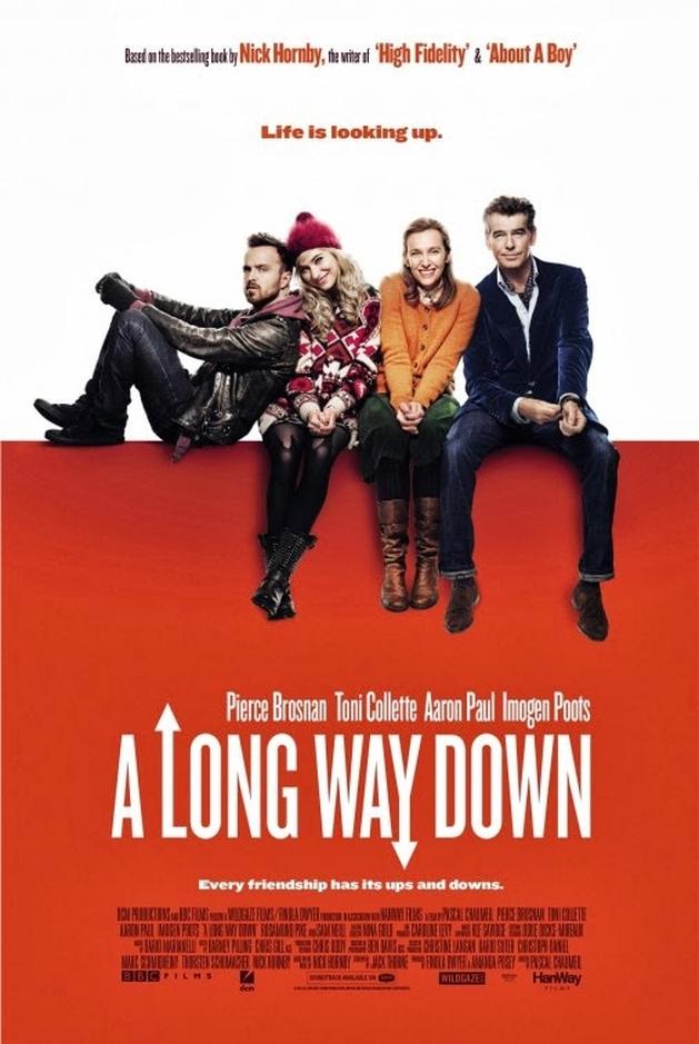 Aaron Paul e Pierce Brosnan no trailer de A LONG WAY DOWN | LOUCOSPORFILMES.net