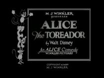 Alice the Toreador - Poster / Capa / Cartaz - Oficial 1